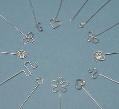 Spiral Heart Head Pin Headpin Tutorial by carolinefjewellery