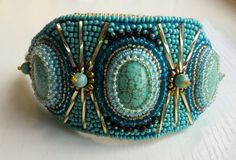 Hey, I found this really awesome Etsy listing at https://www.etsy.com/ru/listing/482628478/bracelet-beadwork-turquoise-imitation