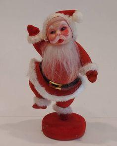 Vintage Plastic Velvet Santa Claus Handmade Shop, Handmade Items, Handmade Gifts, Frocks, Vintage Christmas, Goodies, Santa, Velvet, Plastic