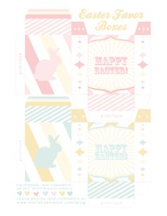 Easter favour box free printable from Mariah de marco