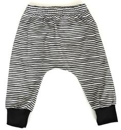 'Marker Stripe' Harems | Little Adi + Co | Click link to shop: http://www.littleadi.com/collections/bottoms/products/marker-stripe-drop-crotch-pants