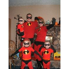 this doesn't need to be with a family- get a group of friends together and do a group superhero costume!