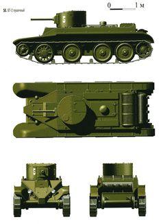 БТ-2  с пушечным  вооружением