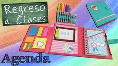 Te mostramos como hacer una #Agenda donde podrás llevar notas, tus rotuladores y herramientas básicas escolares o de trabajo, además con separadores que se p...