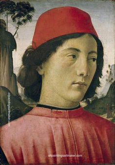 Domenico Ghirlandaio Portrait of a Young Man, painting Authorized official website