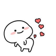 😍😂 Pentol Sticker (New) Cute Bunny Cartoon, Cute Cartoon Drawings, Cute Cartoon Pictures, Cartoon Pics, Doodle Drawings, Cute Love Pictures, Cute Love Memes, Cute Love Gif, Cute Doodle Art