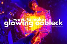 Learn 3 different ways to make glowing oobleck and the science behind each method. This is a mesmerizing sensory activity for kids!