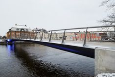 Tullhus #Bridge in Norrkoping by Erik Adersson Architects - a snow-free pedestrian bridge