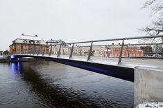 Tullhus #Bridge in Norrkoping by Erik Adersson Architects - a snow-free pedestrian bridge