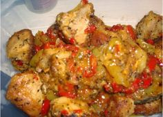 xoirini-tigania-me-manitaria-piperies-kreas-sintages-eisaimonadikigr Pork Dishes, Chicken Wings, Cauliflower, Chicken Recipes, Cooking Recipes, Favorite Recipes, Meat, Vegetables, Ethnic Recipes