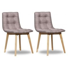 Lot de 2 chaises ELENA Beige