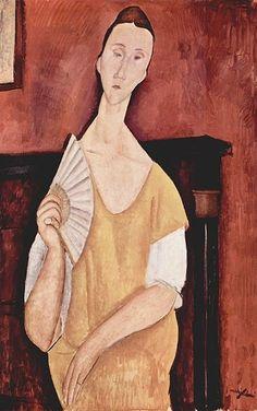 Amadeo Modigliani:  La Femme à l'éventail (1919)