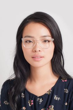 black single women in chamberlain Chamberlain eyeglasses in crystal for women get the job done in assertive, bold frames with a square shape and a strong bridge.