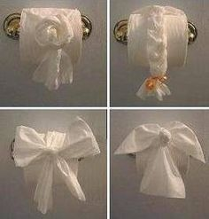 origami toilet paper haha I'm doing this to friends!!
