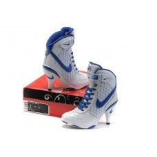 Femme Nike Air Force 1  High Heels Blanc/Bleu