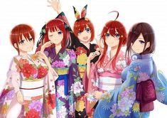 Anime, The Quintessential Quintuplets, Ichika Nakano, Itsuki Nakano HD wallpaper Manga Anime, Anime Art, Sword Art Online, Manga List, Best Waifu, Kawaii Anime Girl, Chibi, Images, Fan Art