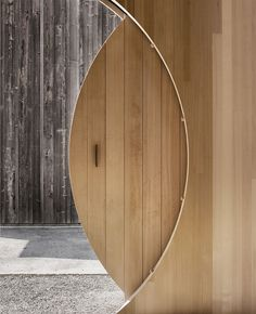 In Austria's Bregenz Forest, Innauer-Matt Architekten has designed a mobile exhibition house for Kaspar Greber, a timber construction company. Cabinet D Architecture, Interior Architecture, Interior Barn Doors, Interior And Exterior, Home Interior Design, Interior Decorating, Door Design, House Design, Door Entryway