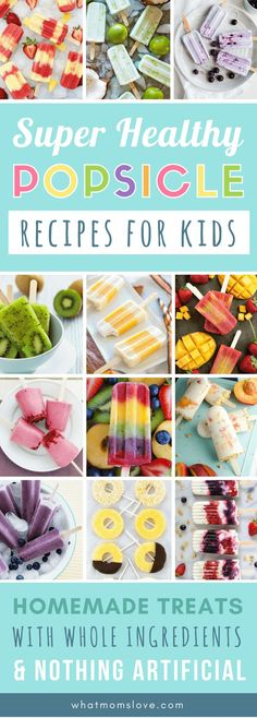 50 Best Healthy Popsicle Recipes For Kids – No Artificial Colors or Refined Sugars In Sight! – Judith Castro 50 Best Healthy Popsicle Recipes For Kids – No Artificial Colors or Refined Sugars In Sight! Best Healthy Popsicle Recipes for Kids Popsicle Recipe For Kids, Healthy Popsicle Recipes, Healthy Fruit Desserts, Healthy Popsicles, Healthy Summer Recipes, Fruit Snacks, Healthy Snacks For Kids, Baby Food Recipes, Kids Eating Healthy