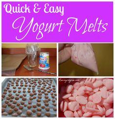 Homemade yogurt melts