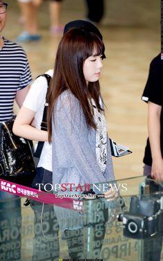 SNSD Taeyeon airport fashion July 2014