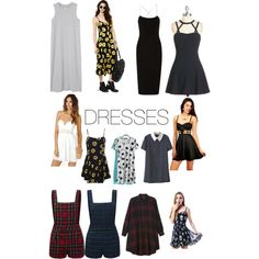 Dresses by prettyfulpam on Polyvore featuring polyvore, fashion, style, T By Alexander Wang, Motel, Monki and JVL