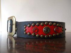 Cinturón western rockabilly negro con tachuelas por CanyoneroBelts