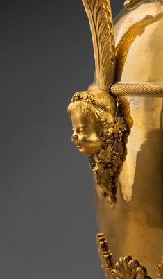 c1810 Claude Galle - Gilt Bronze Ewers, Empire Period