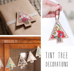 DIY Tiny Tree Christmas Decorations - ornaments or garland