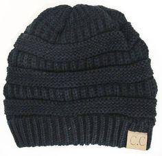 Slouchy Melange Knit Beanie: Multiple Colors   privityboutique