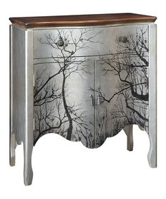 Take a look at this Antique Silver Tree Two-Door Accent Chest by JLA Home on…
