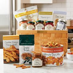 We know what it's like to crave a snack and how frustrating it can be when nothing in your house seems to satisfy. Honey Mustard Dip, Stonewall Kitchen, Asiago Cheese, Lunch Wraps, Specialty Foods, Gift Baskets, Chef Gift Basket, Food Gifts, Yummy Snacks