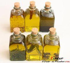 Cómo hacer aceites compuestos. Fotos y elaboración de varios tipos de aceites: tinta, romero, guindilla, trufa, menta y azafrán. Tipos y aplicaciones de los ...