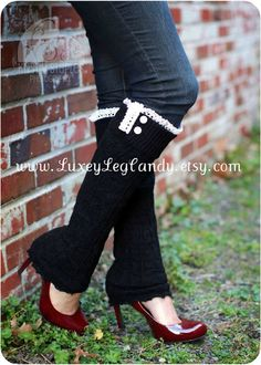 Lace and Button Leg Warmers / Boot Socks In Black. Perfect with boots, heels or flats. $25.00, via Etsy.