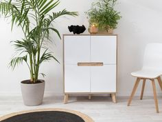 The perfect all-purpose storage cabinet, the Mocka Chelsea Buffet is practical and stylish. Features light, grained wood offset against crisp white drawers. Affordable Furniture, Online Furniture, Living Room Storage, Storage Spaces, Nursery Furniture, Home Furniture, Armoire, Parents Room, White Drawers