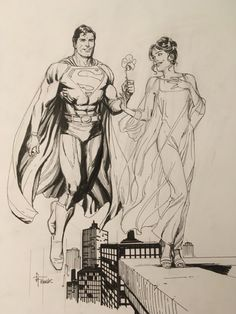 Superman and Lois Lane by Gary Frank Comic Art