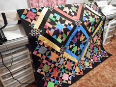 L' Fair Quilts. Bright version of Acappella from Black Cat Creations