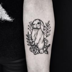 Little bunny of today #nature #floral #linework #dots #dotwork #ink #inkedup #blackwork #blackttatoo #bunny #tattoo #tatts #instagood #instattoo #blxckink #tattoooftheday #rabbit