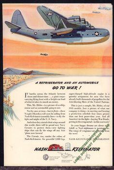 1942 WW II US Navy Vought-Skorsky VS-44 FLYING BOAT Cargo Plane WWII WW2 AD
