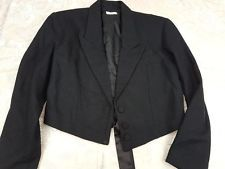 JUNIE   gothic jacket lace up back Size 12    designer    metal goth steampunk