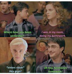 Harry Potter Mems, Harry Potter Draco Malfoy, Harry Potter Spells, Harry Potter Universal, Harry Potter Characters, Hermione Granger, Harry Potter Fandom, Harry Potter Funny Pictures, Harry Potter Tumblr