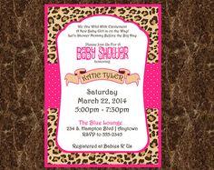 10 Best Cheetah Print Baby Shower Invitations Images Animal Prints