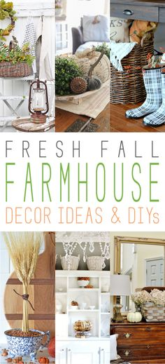 Fall farmhouse decorating ideas and DIY projects, home decor, fall decorating