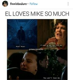 Mike loves El so much too