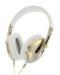 Premium quality sound matched with premium luxury style. The beautifully stunning Gold and White Leather Rockall headphones remind you why style is every bit as important as the sound. White Leather, Leather Men, White Gold, White Headphones, Over Ear Headphones, Mens Leather Accessories, Men's Accessories, Electronic Gifts, Diamonds