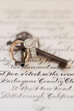 Vintage Keys & Wedding Rings