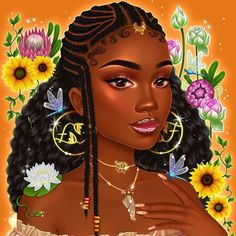 Discovered by ♛Dessy.. Find images and videos on We Heart It - the app to get lost in what you love. Black Art Painting, Black Artwork, Dope Cartoon Art, Black Cartoon, Afro Art, Black Girl Art, Black Women Art, Drawings Of Black Girls, Natural Hair Art