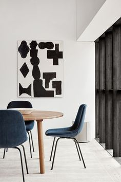 Add different materials to your dining room decor to create a warm and welcoming feel. Here the upholstered Eyes Chairs works great with the wooden Taro Table. By adding a travertine bowl and an upholstered pouf, you create a dining room that is cosy, timeless and stylish. #fredericiafurniture #erikjørgensen #eyes4legchair #eyescollection #tarotable #locusbowl #monopouf #interiordesign #danishdesign #scandinaviandesign #diningroomdecor #modernoriginals #craftedtolast Dining Area, Dining Chairs, Dining Room, Organic Shapes, Danish Design, Scandinavian Design, Textile Design, A Table, Room Decor