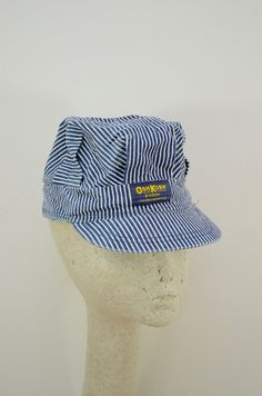 8d7d4cf9a1c55 Vintage Oshkosh B Gosh TRAIN ENGINEER railroad Kid hat made in USA snap back