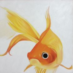Marce Art Gold Fish - Oil on canvas painting