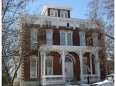 Robards Mansion, Hannibal, MO. Built in 1871 by John Robards, a lifelong friend of Samuel Clemens (Mark Twain), it is now a bed & breakfast. It still has one of the few iron fences in town that wasn't melted down for armaments during WWII.